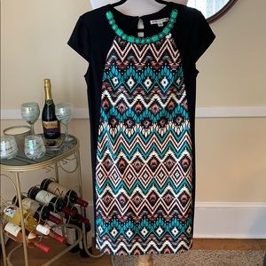 Madison Leigh Size 12 Bejeweled Dress in EUC